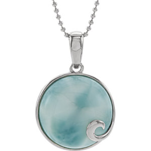 Larimar Pendant or Necklace