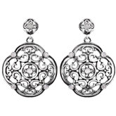 Filigree Design Earrings