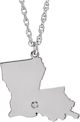 State with Accented City Necklace