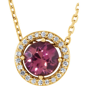 Gemstone & Diamond Halo-Styled Necklace or Pendant Mounting