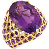 18x13mm Oval Amethyst Nest Design Ring Ref 71611