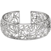 Be Posh® Textured Bark Hinged Cuff Bracelet