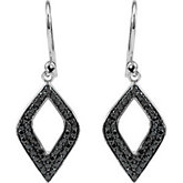 Genuine Black Spinel Earrings