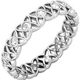 Sculptural-Inspired Eternity Band