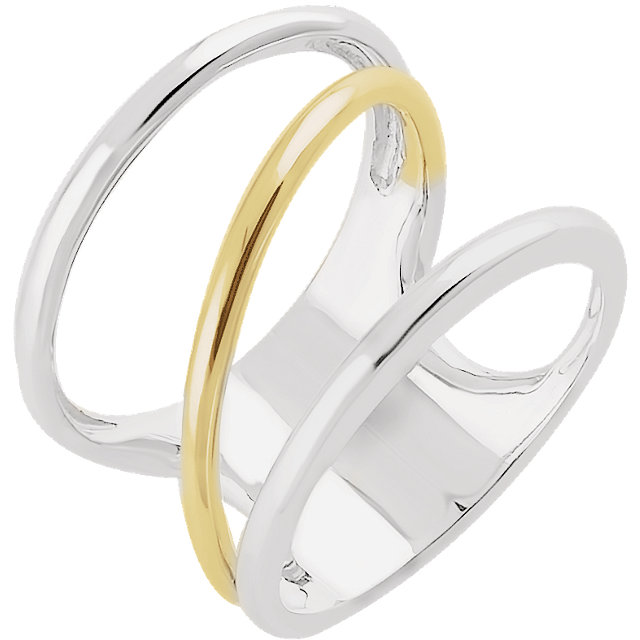 14kt White & Yellow Freeform Ring