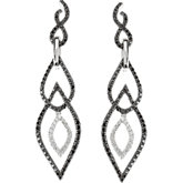 1 1/3 ct tw Black & White Diamond Earrings
