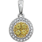 Diamond Halo-Styled Cluster Pendant