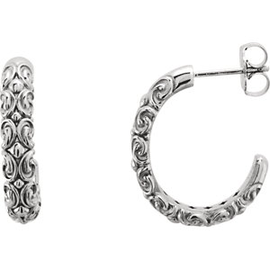 Sculptural-Inspired Half-Hoop Earring