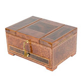 Rustic Burl with Elm Burl Inlay Jewelry Chest
