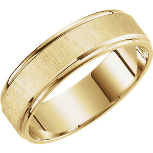 Lightweight 6mm Satin Finished Band