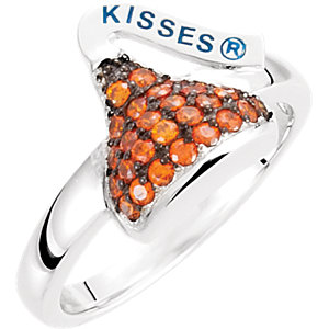 Sterling Silver January HERSHEYS KISSES Aubic Zirconia Birthstone Ring