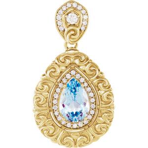 Gemstone & Diamond Pendant or Mounting
