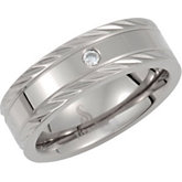 Titanium Rolling Band with .05 ct Diamond