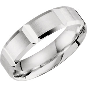 Lightweight 6mm Grooved Beveled Band