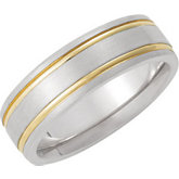7mm Two Tone Domed Band