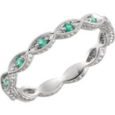 Gemstone or Diamond Eternity Band