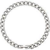 Stainless Steel Diamond Cut Curb Bracelet or Chain with Box Lock