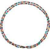 Freshwater Cultured Dyed Pearl & Turquoise Beads Rope