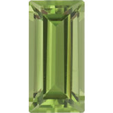 Straight Baguette Genuine Peridot