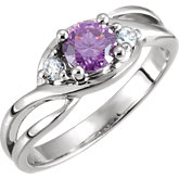 Ring Mounting  for 5.2 mm Round Gemstone Center