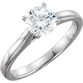 Round Solitaire Engagement Ring Mounting