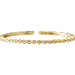 14K Yellow 1/6 CTW Diamond Stackable Bangle Bracelet
