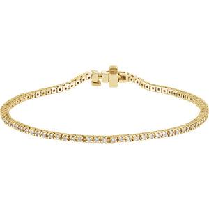 "14K Yellow 1 CTW Diamond Line 7.25"" Bracelet"