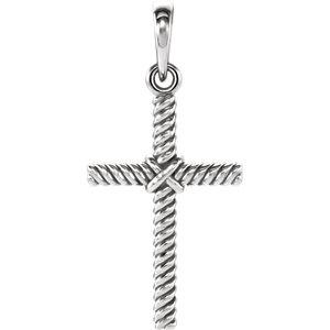 Cross Rope Design Pendant