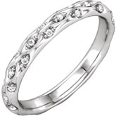 Diamond Sculptural Design Eternity Band or Mounting