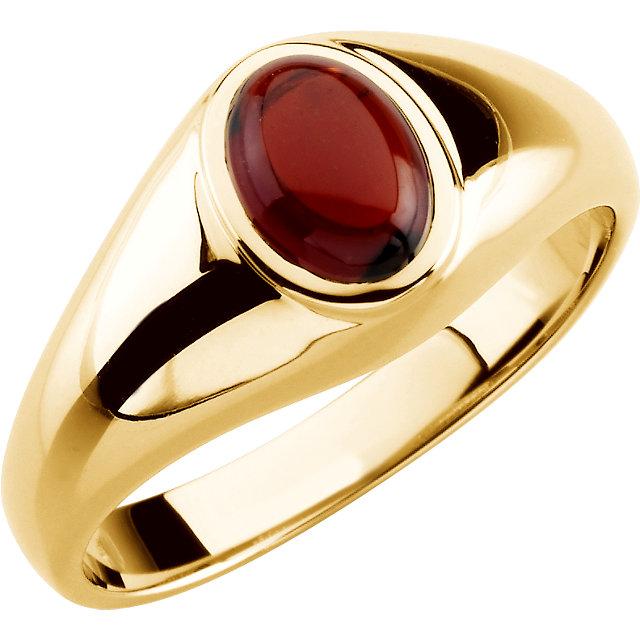 14K Yellow Mozambigue Garnet Ring