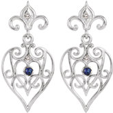 Fleur-De-Lis Decorative Dangle Earrings