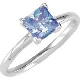 Stackable Lavendar CZ Ring