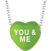 Sweethearts® Enamel Heart Shaped Necklace