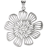 Large Flower Drop Pendant