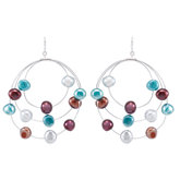 Freshwater Cultured Dyed Nugget Pearl Earrings