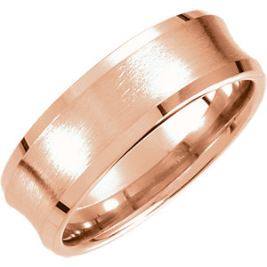 Fancy 7.5mm Beveled Edge Carved Band