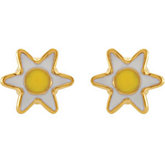 Youth Daisy Earrings with Safety Backs & Gift Box