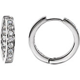 Created Moissanite Hoop Earrings