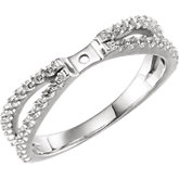 Diamond Split Shank Engagement Ring or Semi-mount
