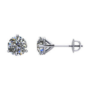 1₁ G-H Diamond Threaded Post Stud Earrings