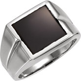 Men's Ring Mounting for Square/Princess Center