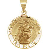 Hollow Round St. Francis of Assisi Medal