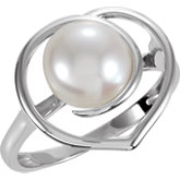 Freshwater Cultured Pearl Heart Ring
