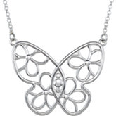 Butterfly & Floral Design Necklace or Neck Trim
