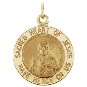 Sacred Heart of Jesus Round Medal