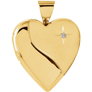 Heart Locket with Diamond Accent