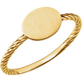 Be Posh® Oval Engravable Rope Ring