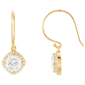 14kt Yellow   1/5 ATW Diamond Earrings