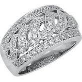 1/2 ct tw S-Design Diamond Band