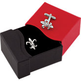 Stainless Steel Fleur-de-Lis Cuff Links